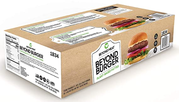 Beyond Burger from Beyond Meat, Plant-Based Meat, Frozen, 40 - 4oz. Patties per Box (Total 10 lbs.): Amazon.com: Grocery & Gourmet Food