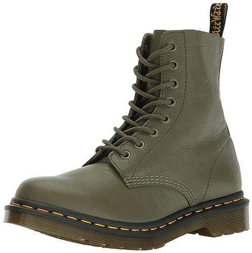militar para Martens marrones Zapatos estilo mujer Dr wCfOnAq