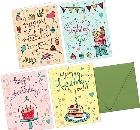 One Jade Lane Fantaisistes Joyeux Anniversaire Cartes 24 Count