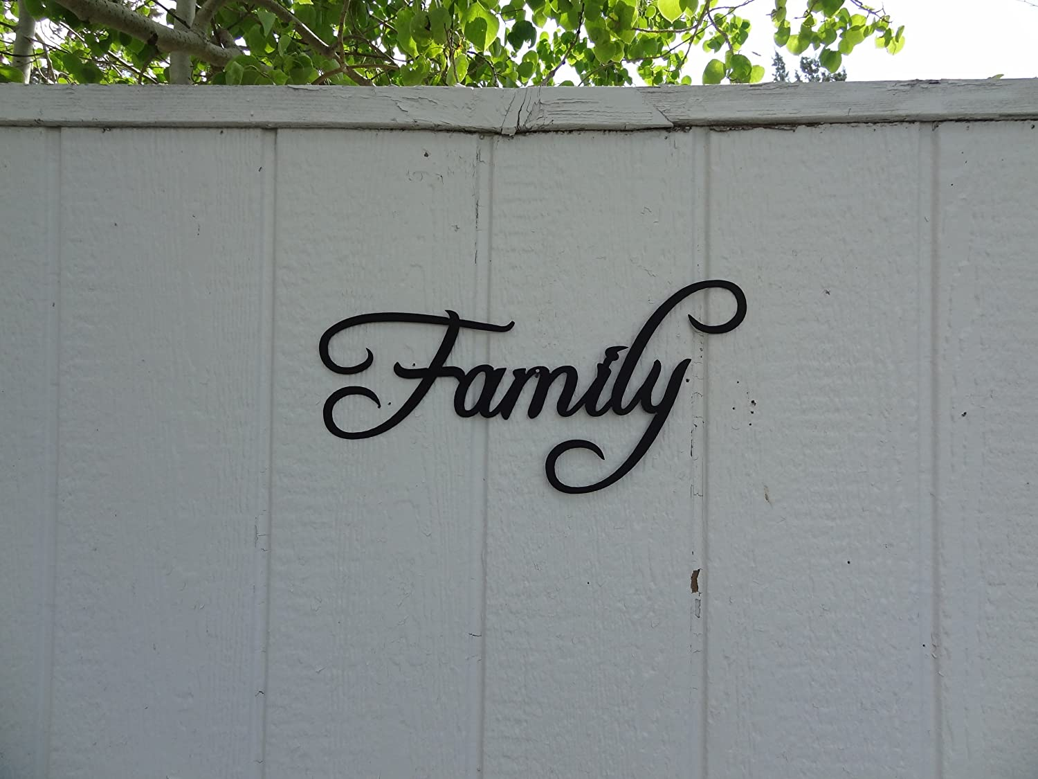 Amazon family word home decor metal wall art home kitchen amipublicfo Image collections