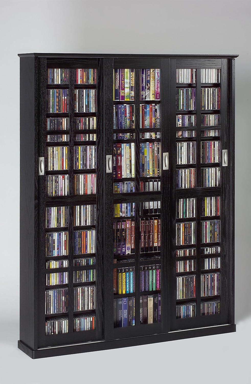 Sliding Door Dvd Cabinet Amazoncom Sliding Door Inlaid Glass Mission Style Multimedia