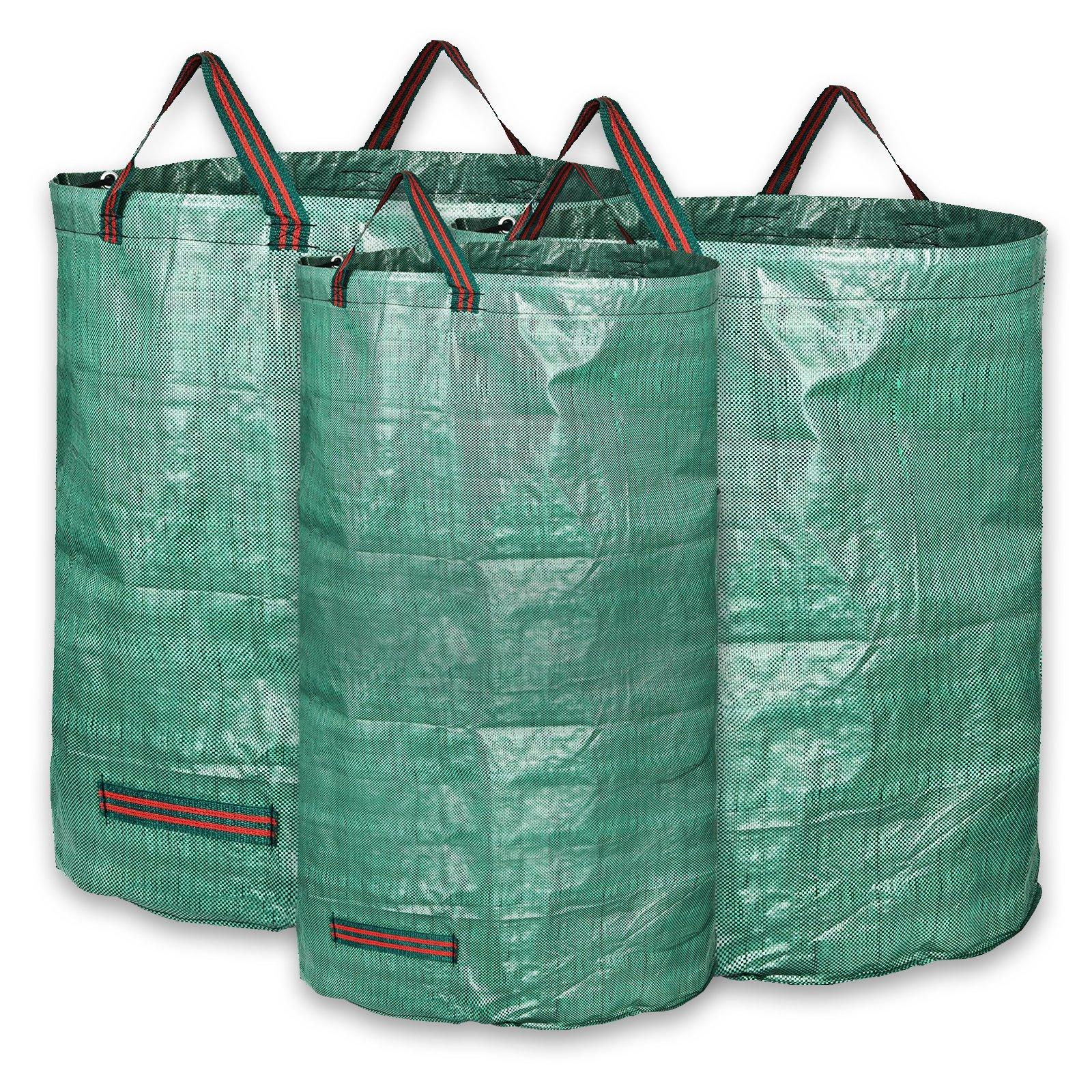 KORAM 3-Pack Garden Waste Bags Reusable Gardening Bag Collapsible Yard Lawn Leaf Bag - 2x 72 Gallons, 1x 32 Gallons - Garden Gifts for Men & Women by KORAM