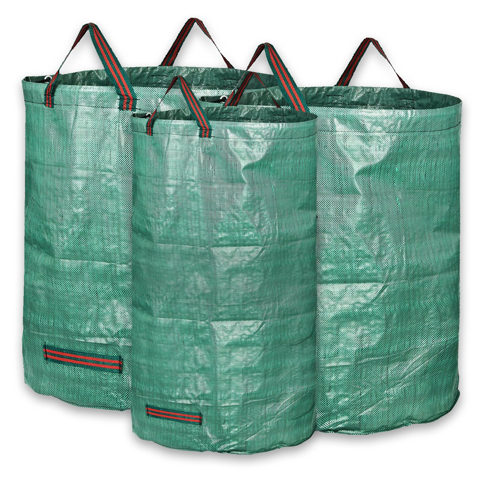 KORAM 3-Pack Garden Waste Bags Heavy Duty Reusable Gardening Yard Lawn Leaf Bag- 2x 72 Gallons,1x 32 Gallons