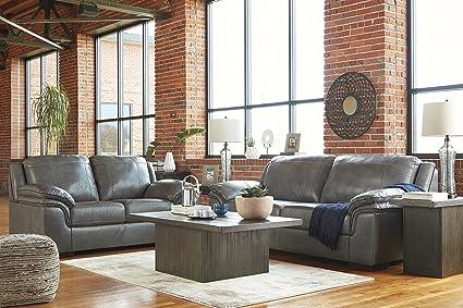 Terrific Amazon Com Islebrook Contemporary Leather Iron Color Sofa Spiritservingveterans Wood Chair Design Ideas Spiritservingveteransorg