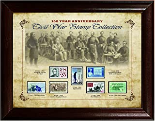 product image for 150 Year Anniversary Civil War Stamp Collection - Framed