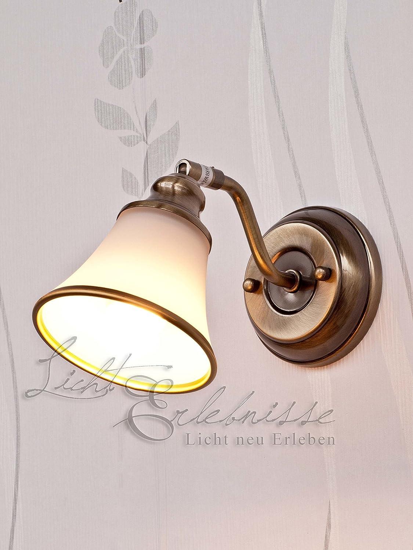 Dekorative Halogen-Badleuchte 28 Watt in Bronzeoptik Spiegellicht Jugendstil 1/1/911