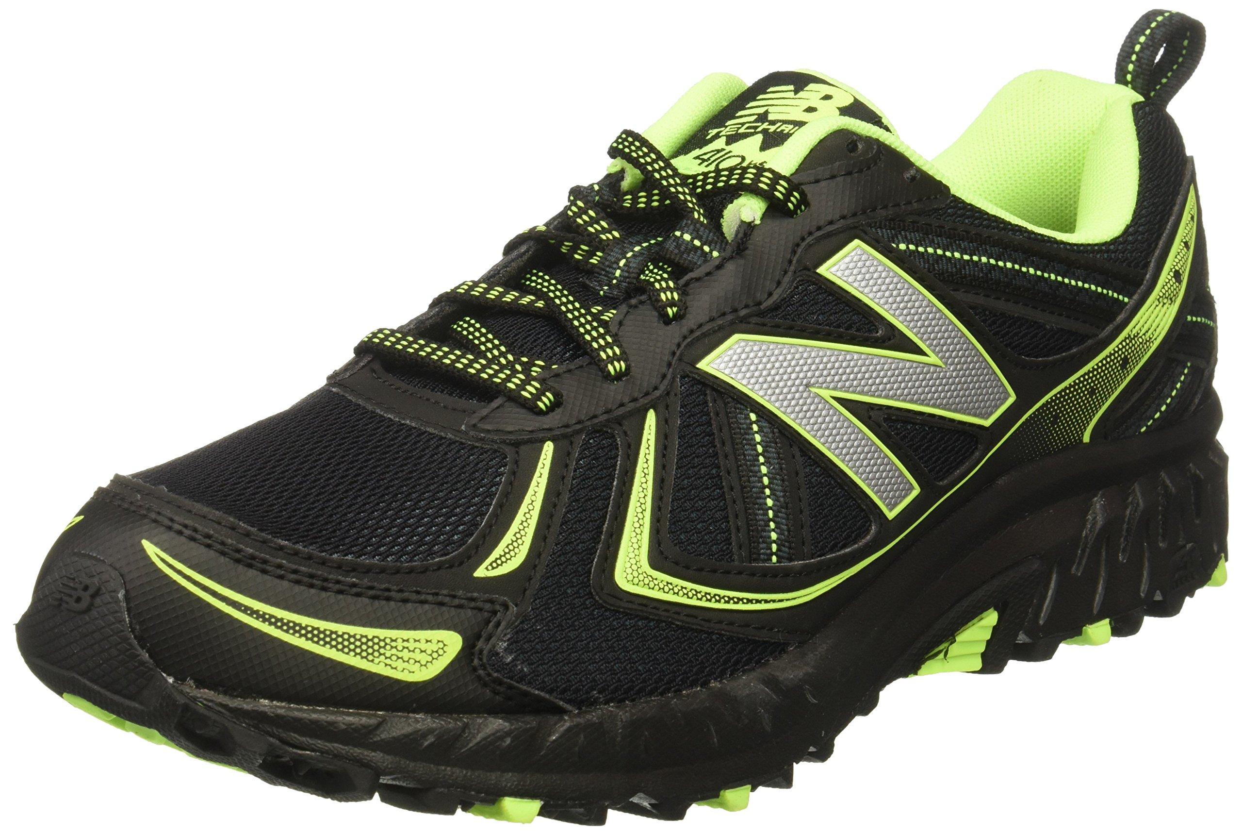 New Balance Men's MT410v5 Cushioning Trail Running Shoe, Black, 8 D US