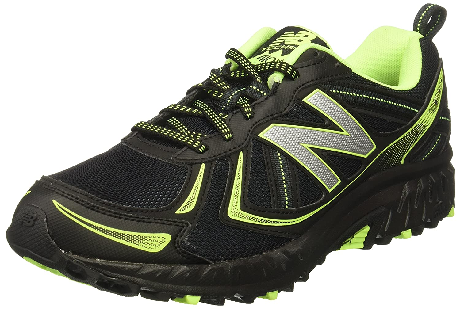 New Balance Men's Mt410v5 Cushioning Trail Runner B01LX41MJ6 9.5 D(M) US|Black