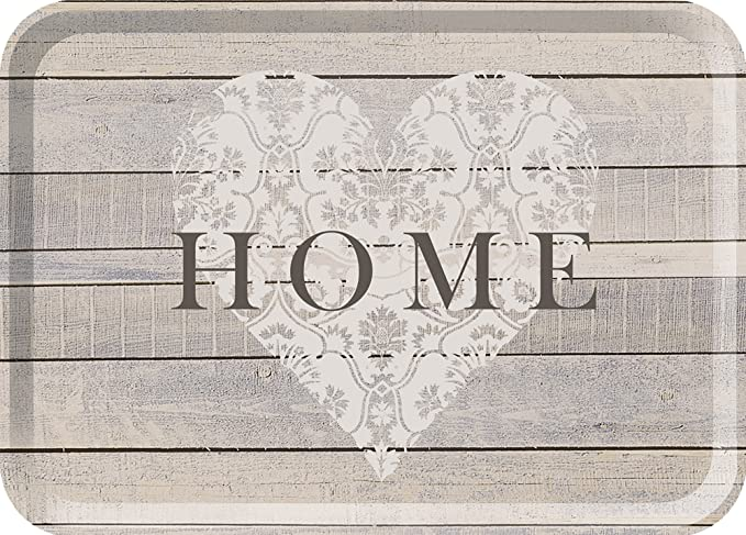 """5 opinioni per creative tops, vassoio, con stampa """"Home"""", colore: grigio, taglia L"""