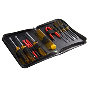StarTech.com 11 Piece PC Computer Tool Kit with Carrying Case - PC Tool Kit - Computer PC Repair Tool Kit (CTK200)