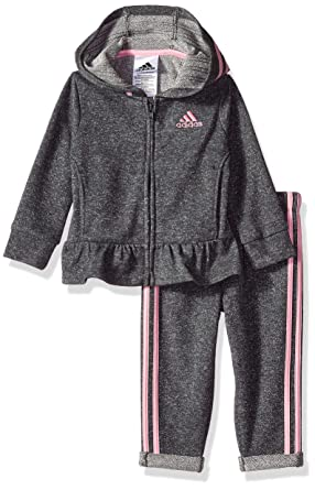 c42082320cc Adidas Baby Girls' Long Sleeve Top and Pant Set: Amazon.in: Clothing ...