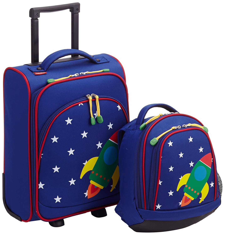 Travelite Kindergepäck Youngster Kinder-reiseset (trolley S + Rucksack), Motiv Rakete, Marine 30 Liters Blau 81780-20