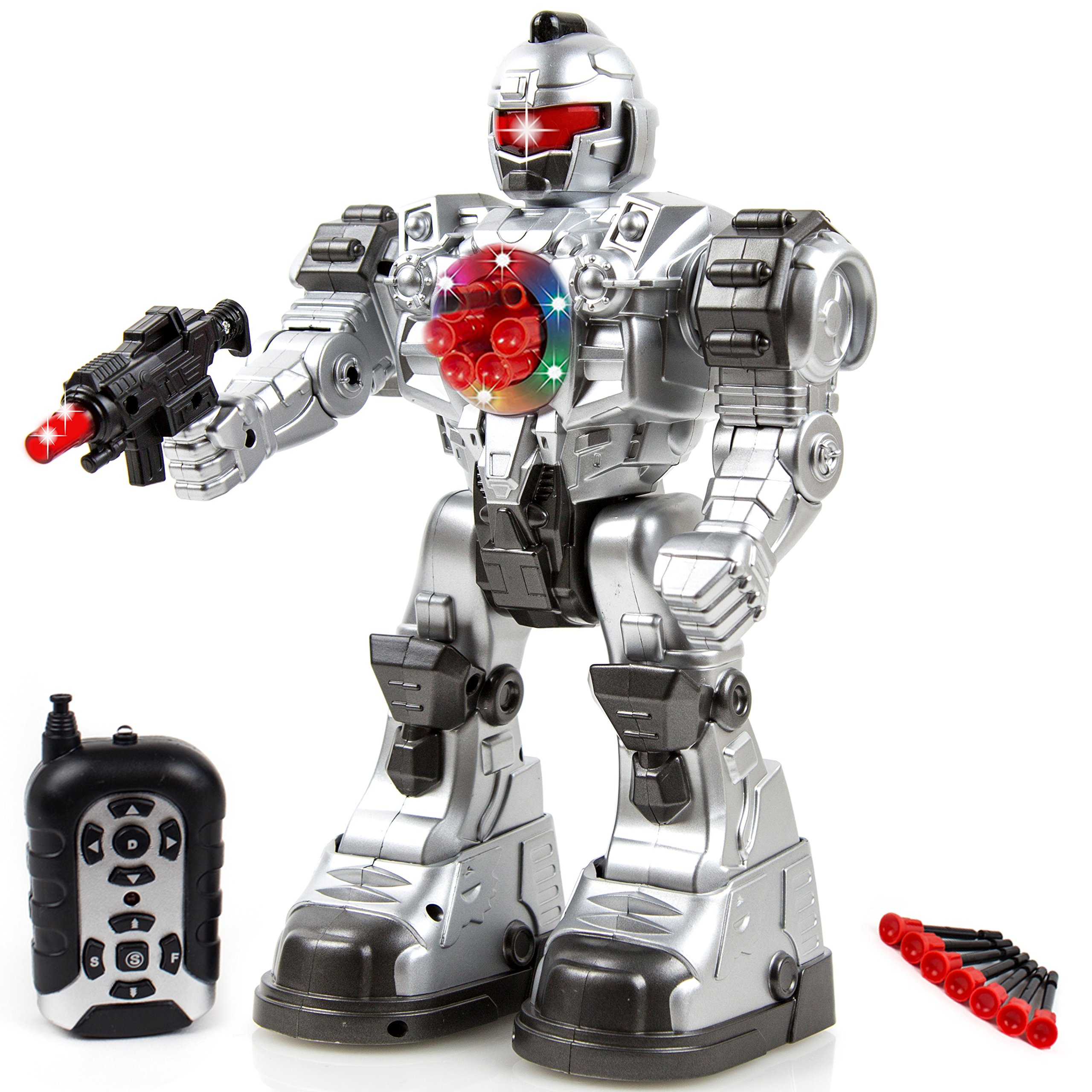 Toysery Remote Control Robot Police Toy for Kids Boys Girls with Flashing Lights Action Toy for Boys by Toysery (Image #1)