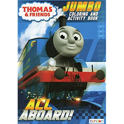 All Aboard! (Thomas & Friends) Coloring and Activity Book: Toys & Games