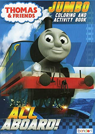 Amazon.com: All Aboard! (Thomas & Friends) Coloring and Activity ...