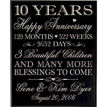 Amazon Com Personalized 10 Year Anniversary Wedding