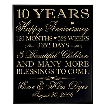 Amazon Personalized 10 Year Anniversary Wedding Gifts Ideas