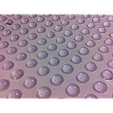 Isolate It! - Juego de topes redondos para puertas, armarios y muebles (diámetro de 9,5mm, altura de 3,8mm, 36 unidades), transparente