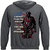 Military Hooded Sweat Shirt American Flag Soldier I Am The Shadow MM2406SW