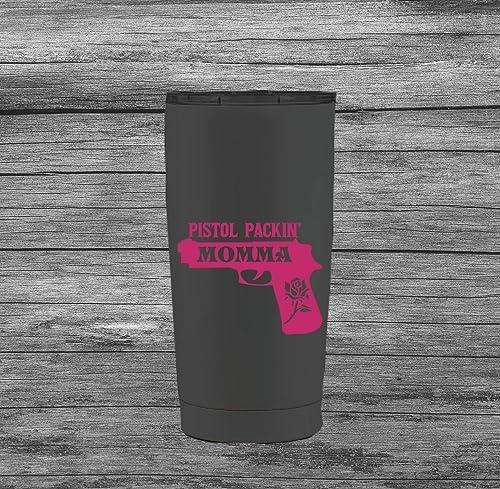 Pistol Packin Papa Vinyl Decal Made in USA For Tumbler Car Window Bumper Sticker For Men