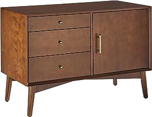 Crosley Furniture Landon Mid-Century Modern Media Console, Mahogany
