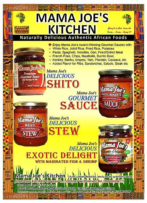 Amazon.com : Mama Joe\'s African Shito (Seafood Sauce) Contains ...