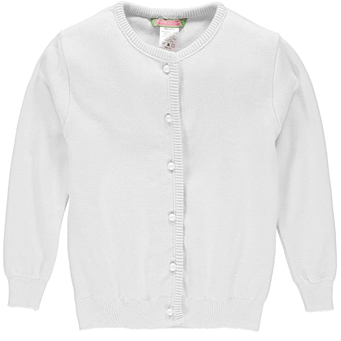 b7c5d7f218 Amazon.com  Sophie and Sam Girls  Soft Knit Cardigan Sweater School ...