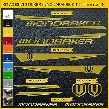 Kit Pegatinas Stickers Bicicleta MONDRAKER - Kit 6-10 Piezas- Bike ...