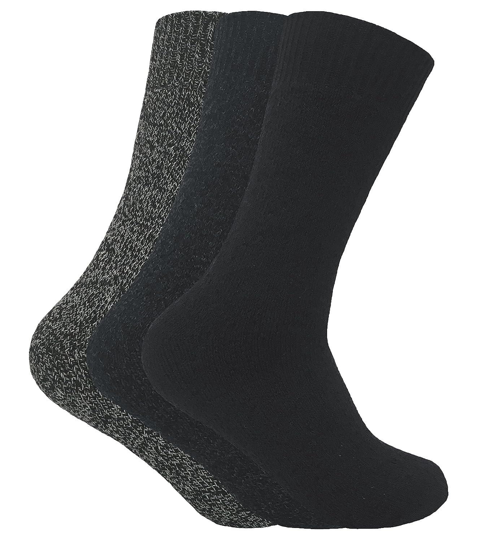 Sock Snob 3 pares hombre invierno lana sin elasticos calcetines para botas en 4 colores (39-45 eur, TBS03): Amazon.es: Ropa y accesorios