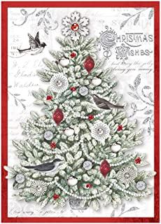 Amazon.com: Tarjeta de Navidad de felicitación alemán