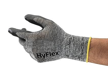Ansell HyFlex 11-801 Foam Nitrile Coating Glove Size 8 12 pair 1 DOZEN