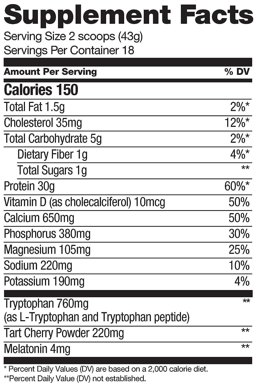 Cytosport Sleeping Giant Hot Chocolate Nighttime Protein Supplement Powder - with Melatonin &...