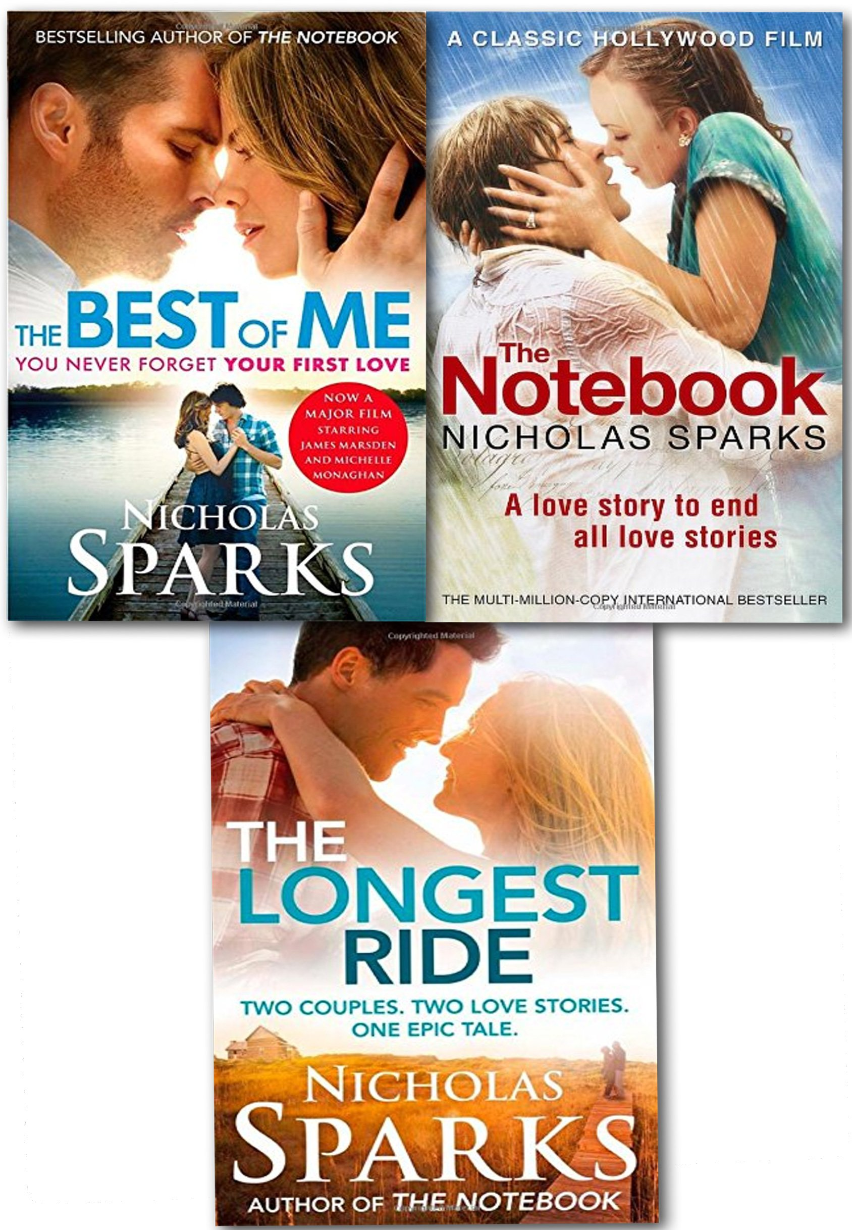 nicholas sparks love stories collection 3 books set the notebook nicholas sparks love stories collection 3 books set the notebook the best of me film tie in the longest ride co uk nicholas sparks