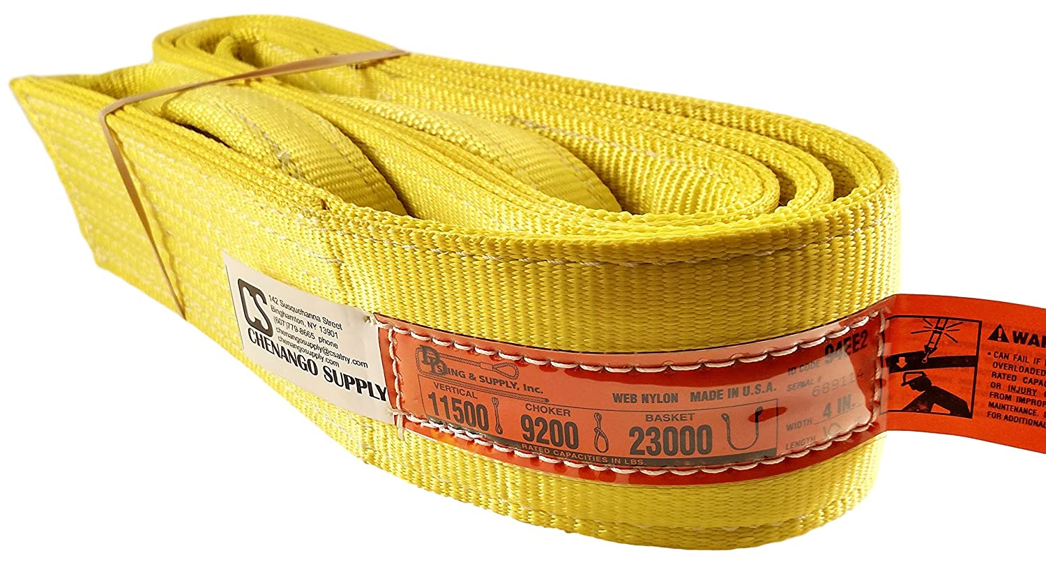 6,400 lbs Vertical Made in USA 2 x 8 DD Sling 2x8 12,800 Basket Load Capacity 5,100 Choker Multiple Sizes in Listing! Eye /& Eye 2 Ply USA Made Nylon Webbing 900 webbing Nylon Lifting Slings Heavy Duty