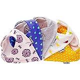 Lovjoy Baby Triangular Scarf Bandana Bib - Chirpy & Cheerful, Pack of 5