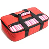 Insulated Casserole Carrier – Hot & Cold Food Keeper– 16.5 x 4.2 x 10.5 inches – 600D Polyesterand10mm EPE Foam with Aluminum Coating