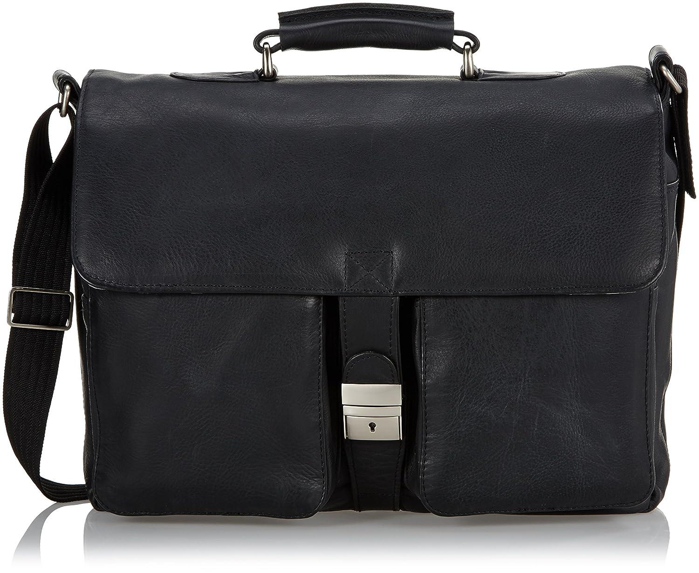 Jahn-Taschen Elegante Aktentasche Grö ß e L/Laptoptasche bis 15,6 Zoll, aus Nappa-Leder, fü r Damen und Herren, in verschiedenen Farben, 750 Jahn-Tasche 750