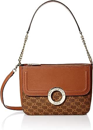Karl Lagerfeld Paris womens Clarise Monogram Shoulder Bag