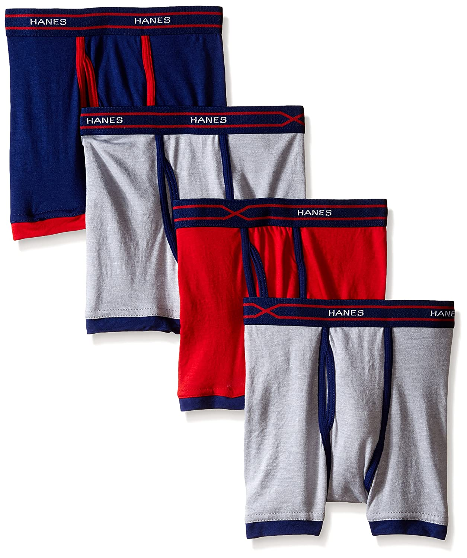 Hanes Boys Toddler Boys 4-Pack X-Temp Ringer Boxer Brief Hanes Girls 7-16 Underwear BX6RP4