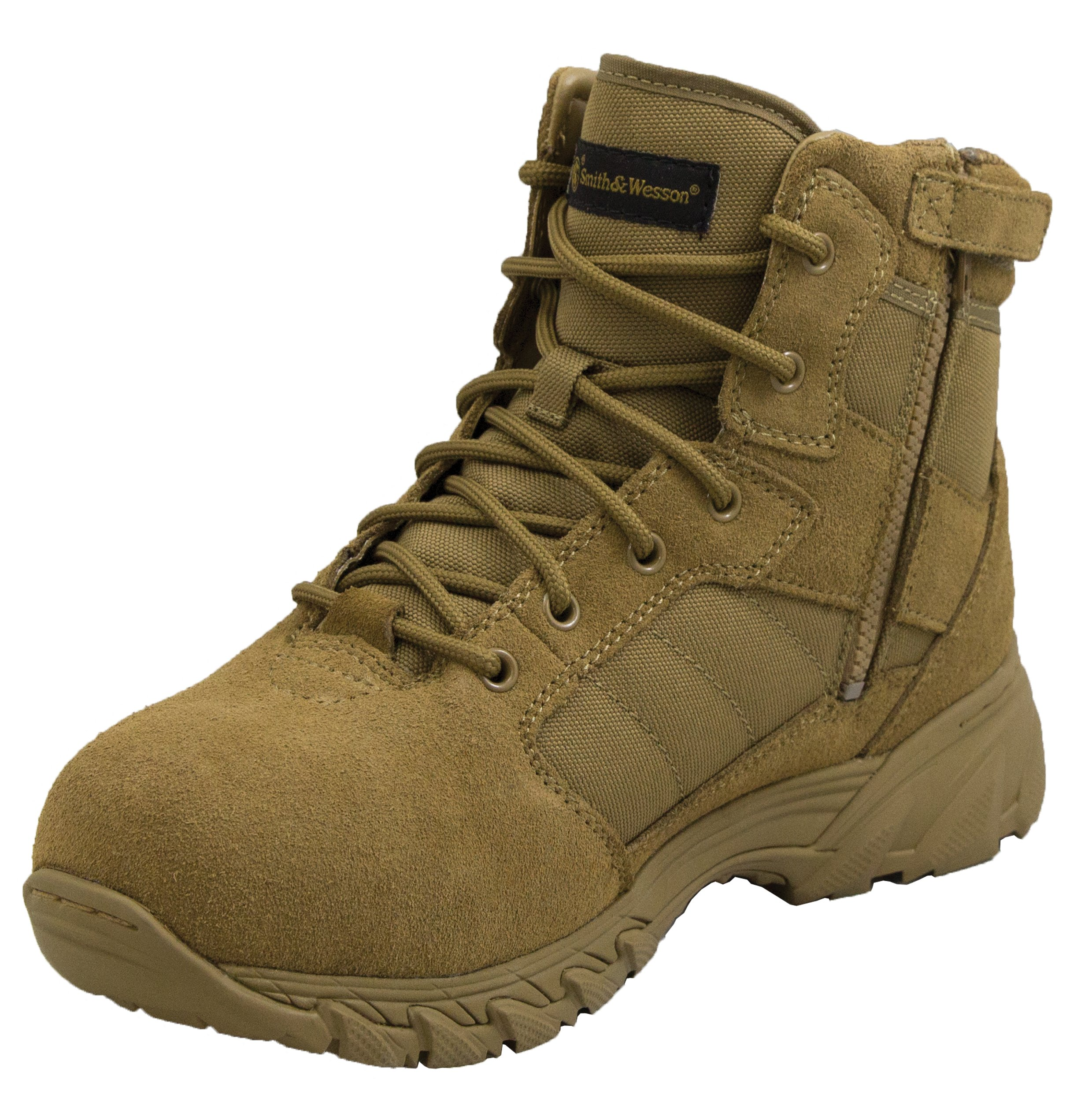 Smith & Wesson Men's Breach 2.0 Side Zip Tactical Boots, Coyote, 8.5 by Smith & Wesson