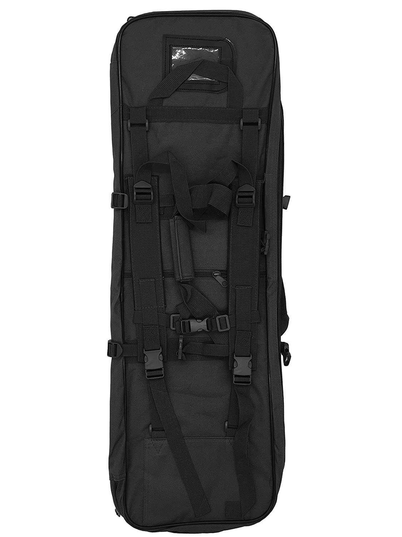 silfrae ShotgunバッグタクティカルライフルケースShotgunバックパックガン鞘  120cm---Black B07FCZ132Z