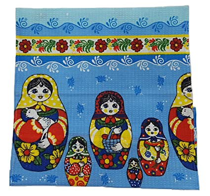 Amazon.com: Russian Pattern Matryoshka - Vintage Design ... on kitchen towels with words, bathrobe patterns, kitchen curtain patterns, kitchen towels with button, kitchen hand towels that hang, embroidered towels patterns, kitchen towels with birds, kitchen table patterns, kitchen window patterns, kitchen accessories patterns, kitchen towels for oven, mirror patterns,
