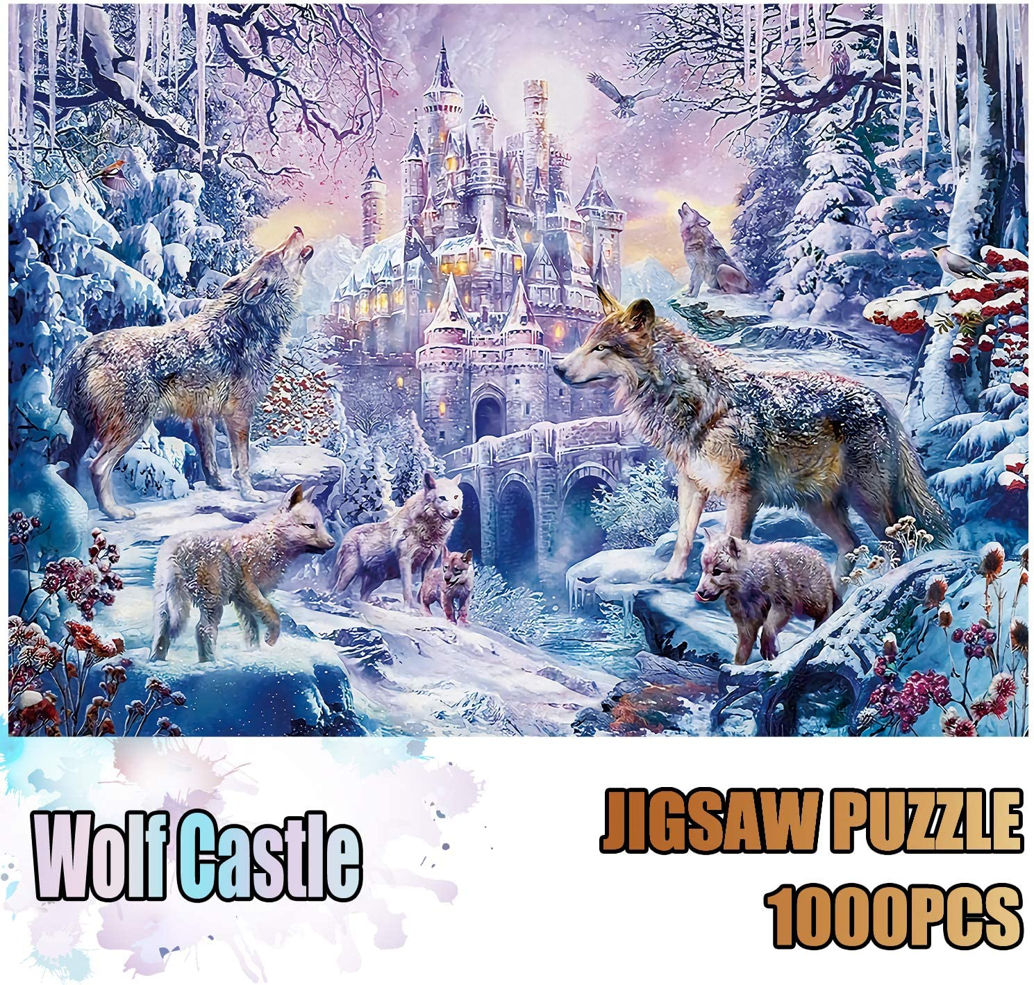 Jigsaw Puzzles 1000 Pieces for Adults Cat World Educational Fun Game Intellectual Decompressing Interesting Puzzle