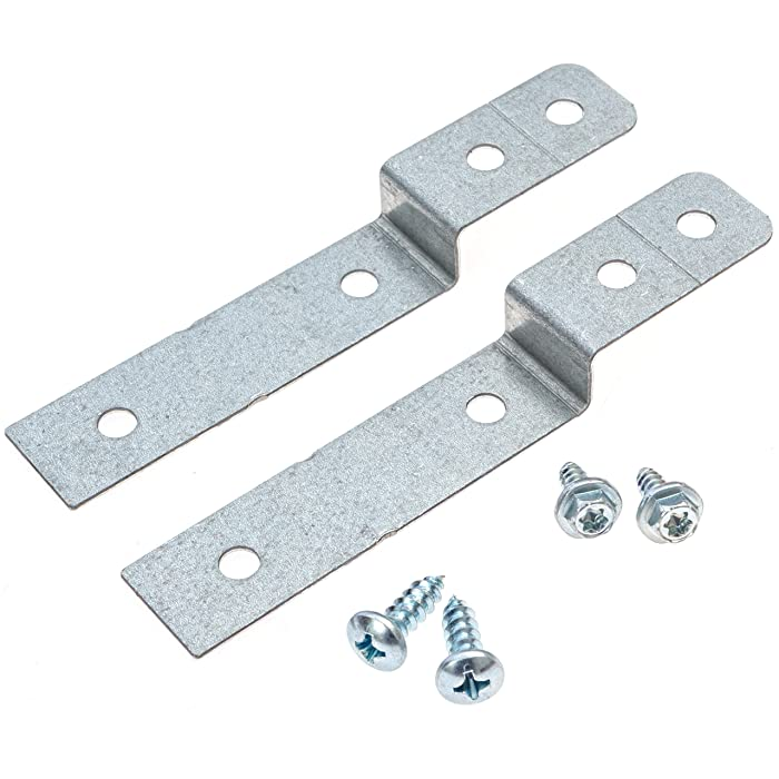 Dishwasher Side Mount Bracket Kit - Frigidaire and Electrolux -Compatible - Compare to DWBRACKIT1-2 Brackets and 4 Screws Included - By Impresa Products
