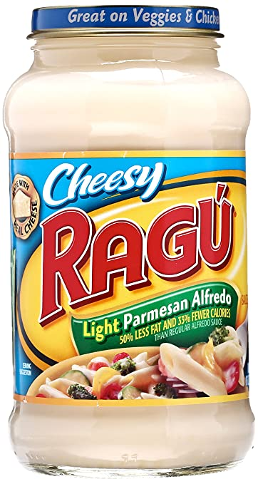 Ragu Light Parmesan Alfredo Sauce, 16 Oz