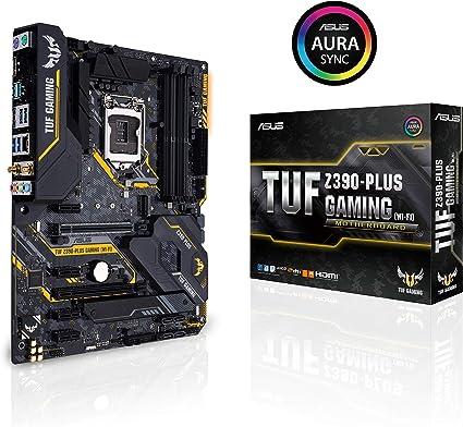 ASUS TUF Z390-Plus Gaming (Wi-Fi) LGA1151 (Intel 8th and 9th Gen) DDR4 DP HDMI M.2 Z390 ATX Motherboard 802.11ac Wi-Fi USB 3.1 Gen2