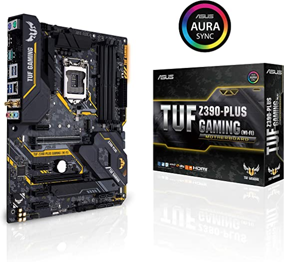 ASUS TUF Z390-Plus Gaming (Wi-Fi) LGA1151 (Intel 8th and 9th Gen) DDR4 DP HDMI M.2 Z390 ATX Motherboard 802.11ac Wi-Fi USB 3.1 Gen2