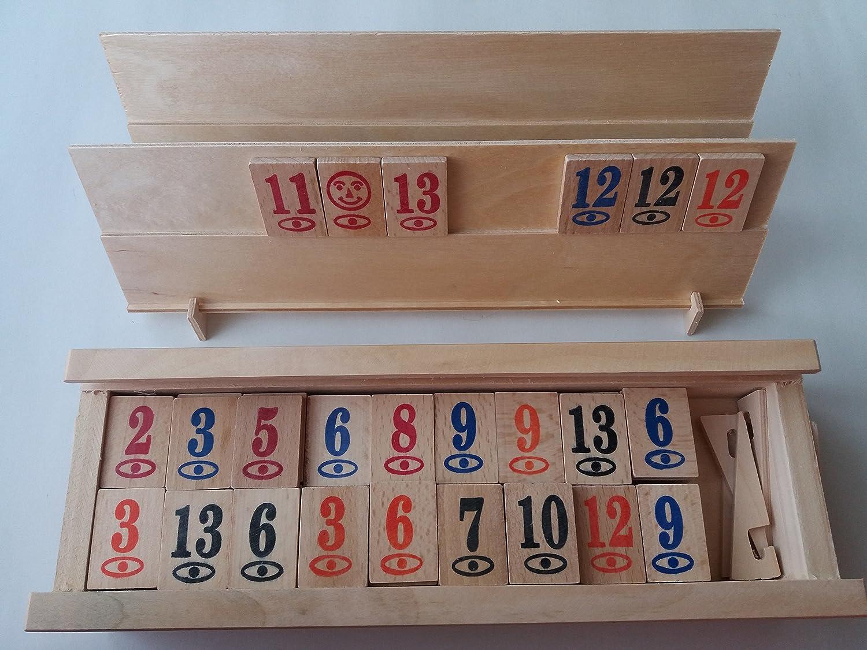 Nouveau jeu complet en bois à la main rummy rummikub jeu jeux pour enfants stratégie jeu de société jeu de société en boîte cadeau pour homme enfants enfant