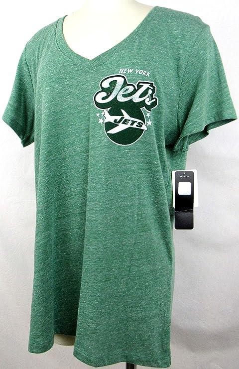 79ac0923 Amazon.com : A-Team Apparel Womens York Jets Retro Logo Established ...