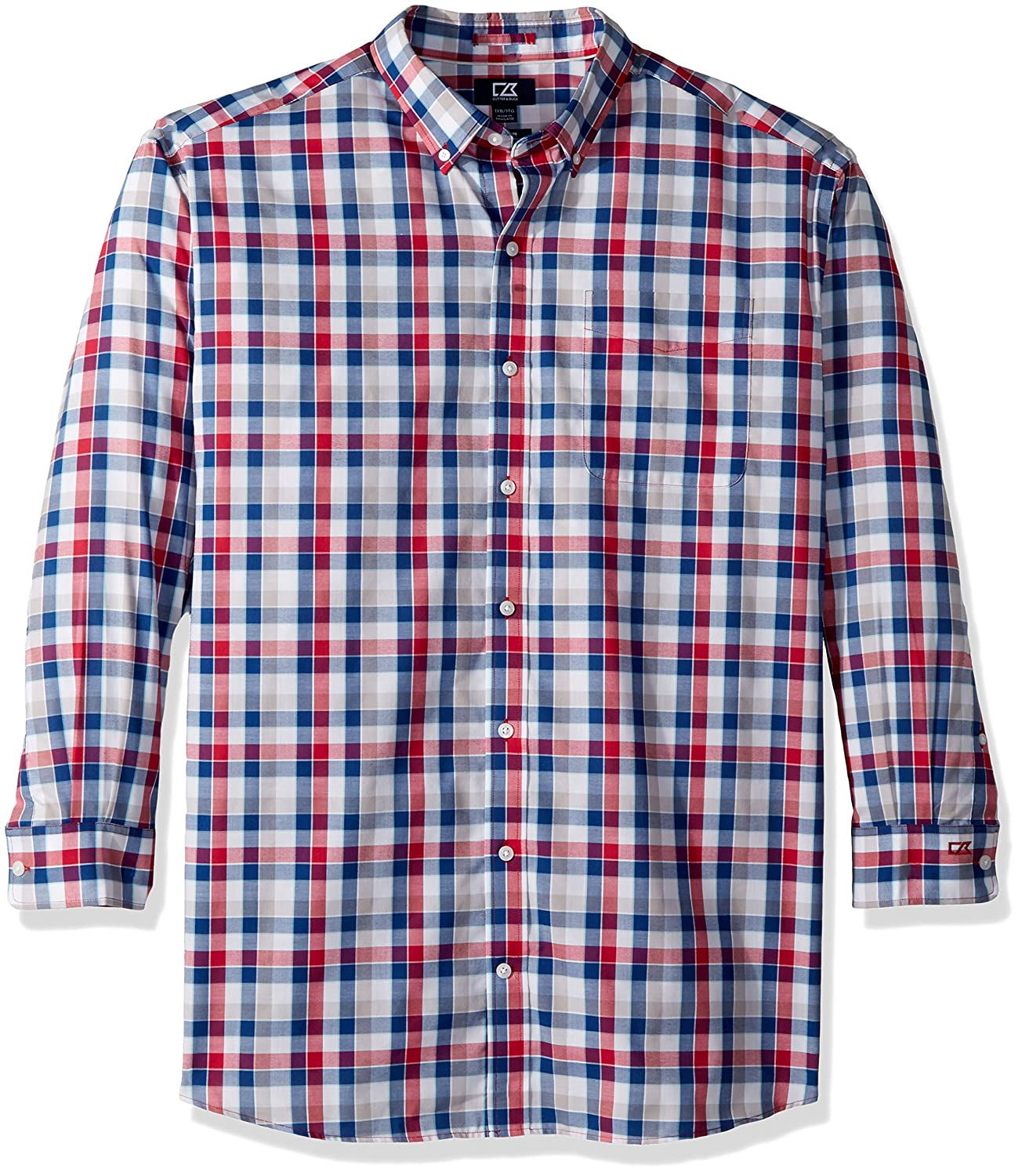 Cutter & Buck SHIRT メンズ B077PRB27D X-Large Tall|Virtual Dylan Plaid Virtual Dylan Plaid XLarge Tall